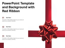 Powerpoint Template And Background With Red Ribbon