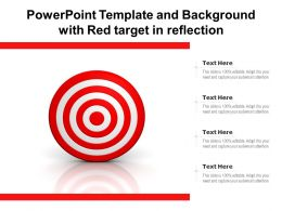 Powerpoint Template And Background With Red Target In Reflection