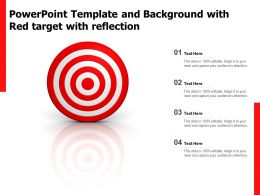 Powerpoint Template And Background With Red Target With Reflection
