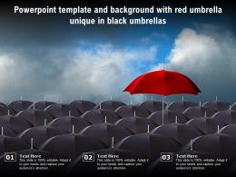 Powerpoint Template And Background With Red Umbrella Unique In Black Umbrellas