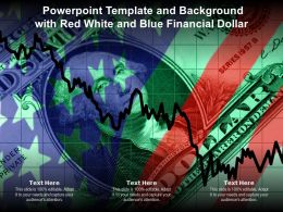 Powerpoint Template And Background With Red White And Blue Financial Dollar