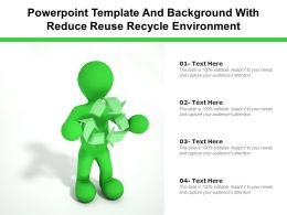 Powerpoint Template And Background With Reduce Reuse Recycle Environment