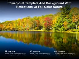 Powerpoint Template And Background With Reflections Of Fall Color Nature
