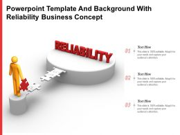 Powerpoint Template And Background With Reliability Business Concept