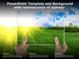 Powerpoint Template And Background With Reminiscence Of Summer