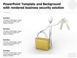Powerpoint Template And Background With Rendered Business Security Solution