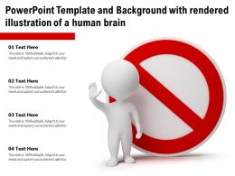 Powerpoint Template And Background With Rendered Illustration Of A Human Brain