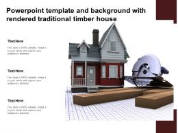 Powerpoint Template And Background With Rendered Traditional Timber House