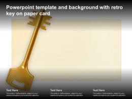Powerpoint Template And Background With Retro Key On Paper Card