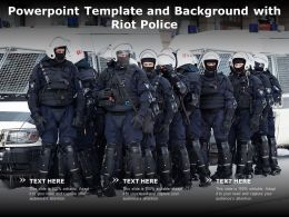 Powerpoint Template And Background With Riot Police