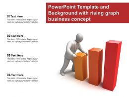 Powerpoint Template And Background With Rising Graph Business Concept