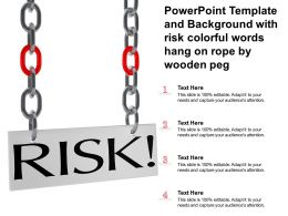 Powerpoint Template And Background With Risk Colorful Words Hang On Rope By Wooden Peg