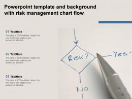 Powerpoint Template And Background With Risk Management Chart Flow