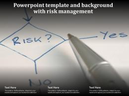 Powerpoint Template And Background With Risk Management