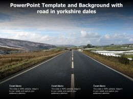 Powerpoint Template And Background With Road In Yorkshire Dales