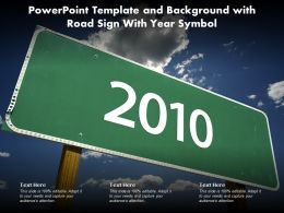 Powerpoint Template And Background With Road Sign With Year Symbol