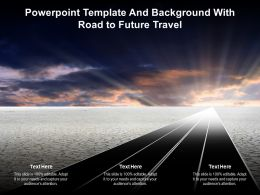 Powerpoint Template And Background With Road To Future Travel