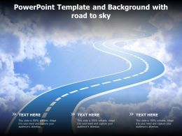 Powerpoint Template And Background With Road To Sky
