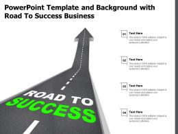 Powerpoint Template And Background With Road To Success Business