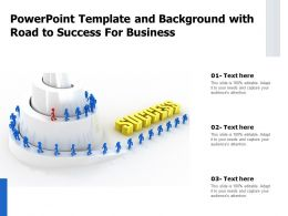 Powerpoint Template And Background With Road To Success For Business