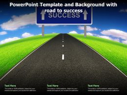 Powerpoint Template And Background With Road To Success