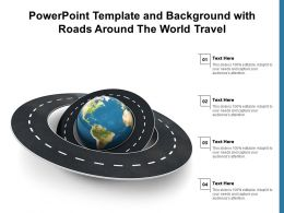 Powerpoint Template And Background With Roads Around The World Travel