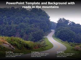 Powerpoint Template And Background With Roads In The Mountains