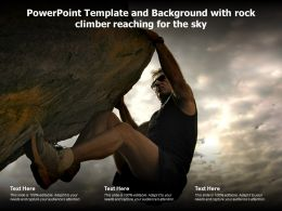 Powerpoint Template And Background With Rock Climber Reaching For The Sky