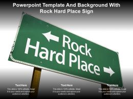 Powerpoint Template And Background With Rock Hard Place Sign