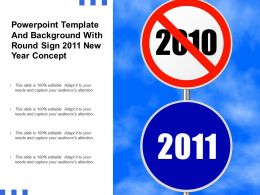Powerpoint Template And Background With Round Sign 2011 New Year Concept