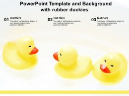 Powerpoint Template And Background With Rubber Duckies