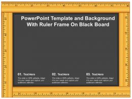 Powerpoint Template And Background With Ruler Frame On Black Board