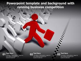 Powerpoint Template And Background With Running Business Competition