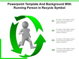 Powerpoint Template And Background With Running Person In Recycle Symbol