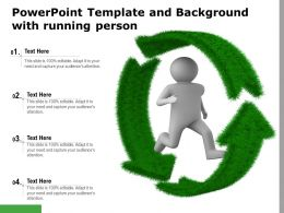 Powerpoint Template And Background With Running Person