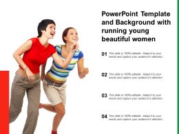 Powerpoint Template And Background With Running Young Beautiful Women