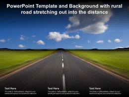 Powerpoint Template And Background With Rural Road Stretching Out Into The Distance
