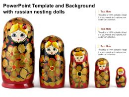 Powerpoint Template And Background With Russian Nesting Dolls