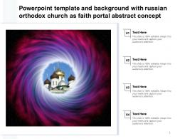 Powerpoint Template And Background With Russian Orthodox Church As Faith Portal Abstract Concept