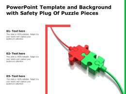 Powerpoint Template And Background With Safety Plug Of Puzzle Pieces