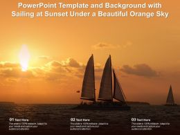 Powerpoint Template And Background With Sailing At Sunset Under A Beautiful Orange Sky