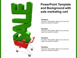 Powerpoint Template And Background With Sale Marketing Cart