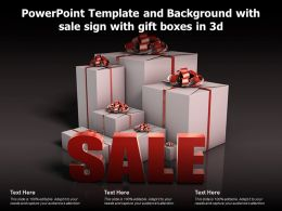 Powerpoint Template And Background With Sale Sign With Gift Boxes In 3d