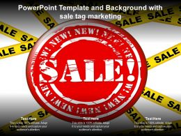 Powerpoint Template And Background With Sale Tag Marketing