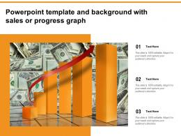 Powerpoint Template And Background With Sales Or Progress Graph