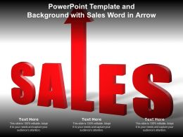 Powerpoint Template And Background With Sales Word In Arrow