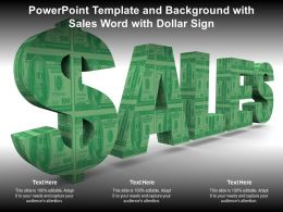 Powerpoint Template And Background With Sales Word With Dollar Sign