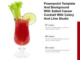 Powerpoint Template And Background With Salted Caesar Cocktail With Celery And Lime Studio