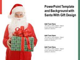Powerpoint Template And Background With Santa With Gift Design