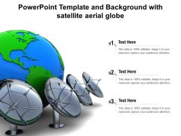 Powerpoint Template And Background With Satellite Aerial Globe